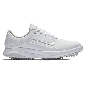 Men's Nike Pro Vapor Golf Cleats White/Silver NWOT